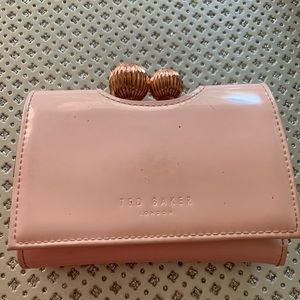 Ted Baker bauble patent pink wallet